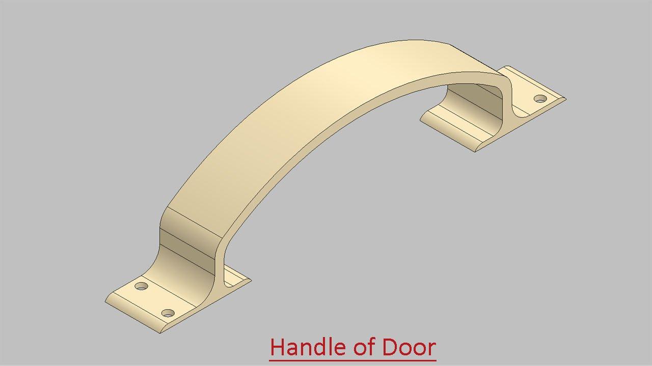 Handle of Door (Video Tutorial) SolidWorks - YouTube