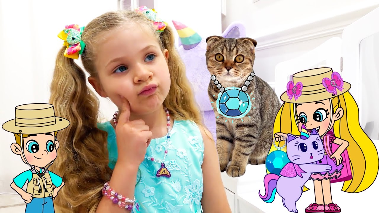 Diana and Roma DIY Princess Jewelry for Kitten