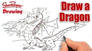 dragon draw rayner shoo easy drawing drawings step books