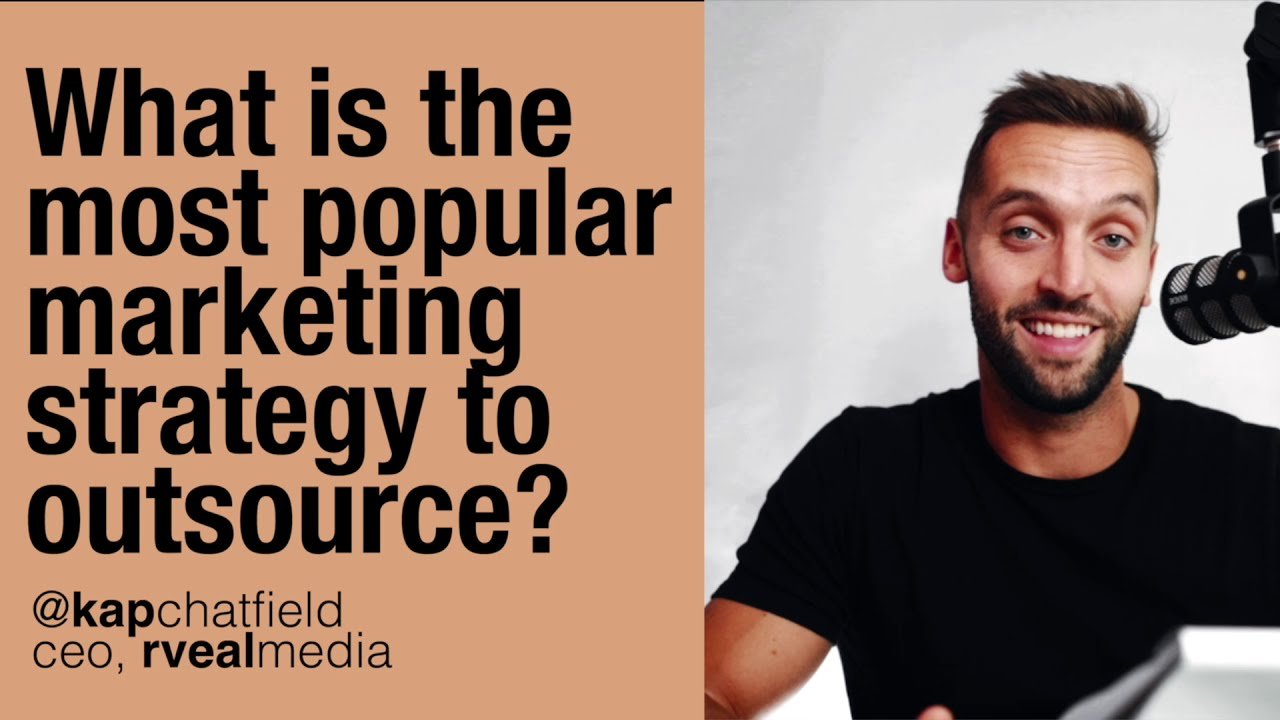 What is the most popular marketing strategy to outsource?