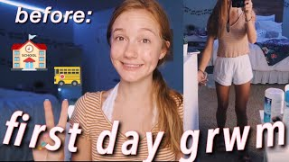 FIRST DAY OF SCHOOL GET READY WITH ME + VLOG (sophomore)