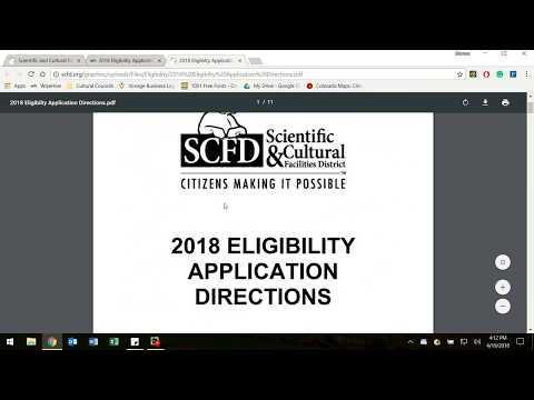 2018 Eligibility Application Tutorial