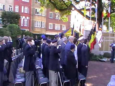 Last Post au monument de la Brigade Piron a Bruxelles le 09/09/2016