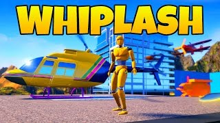 Whiplash Crash Valley! - Deer Riding and High Flying! - Let's Play Whiplash Gameplay