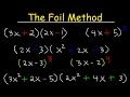 Foil Method Algebra, Binomials, Trinomials, Polynomials, Multiplication With Exponents