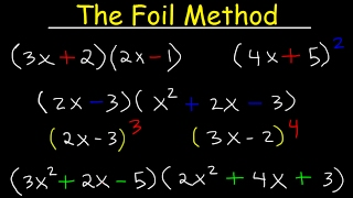 Foil Method Algebra, Binomials, Trinomials, Polynomials, MuĮtiplication With Exponents