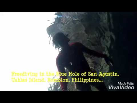 Freediving in the Blue Hole of San Agustin, Tablas Island, Romblon Province, Philippines