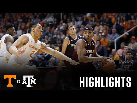 Men's Basketball: Highlights   A&M at Tennessee