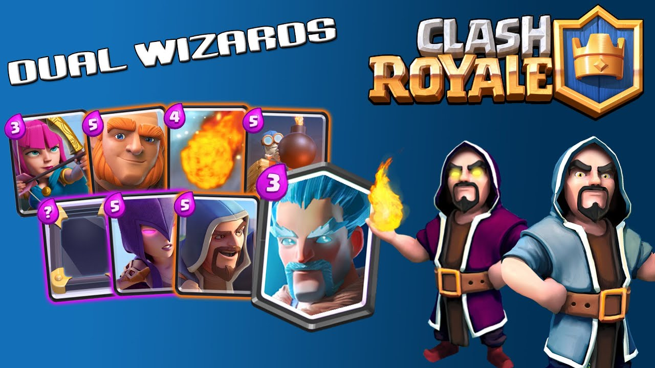dual wizards clash royale battle decks ep 13 dual wizard deck