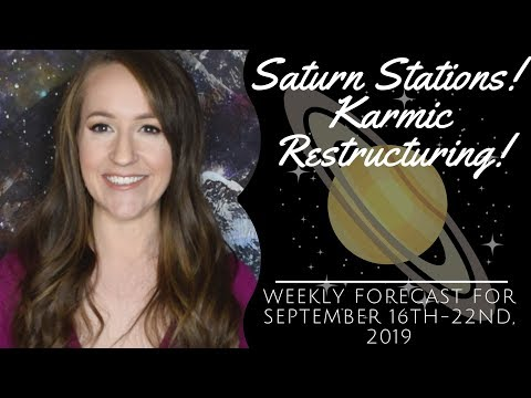 Saturn Stations Direct! Karmic RESTRUCTURING! Weekly Astrology Forecast for ALL 12 SIGNS!