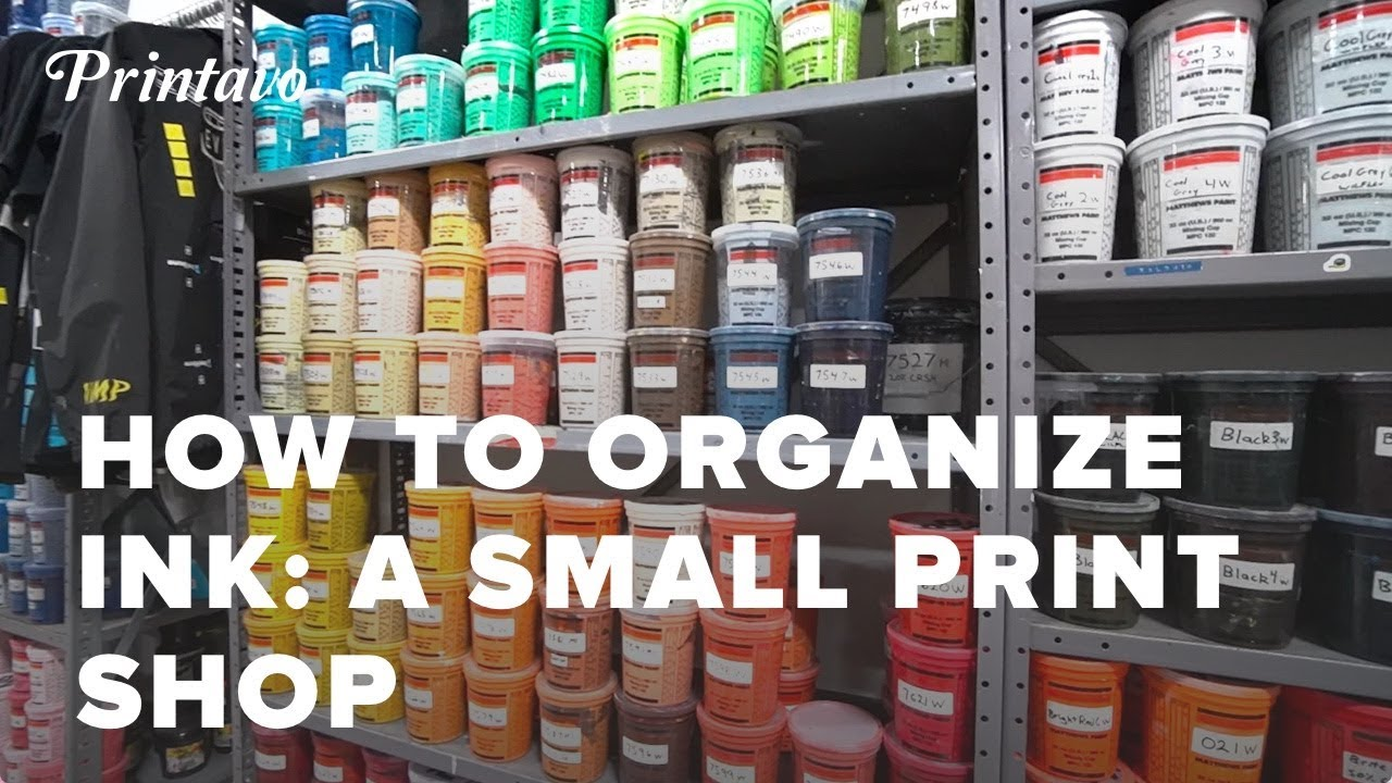 How to Organize Screen Printing Ink | A Small Print Shop's Ink Wizard Responds