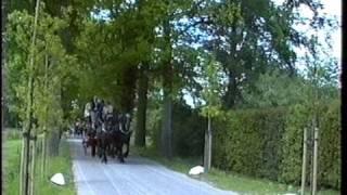 Postkoetsentocht  Diever - De Eese -  Woldberg - Steenwijk   22 mei 1999