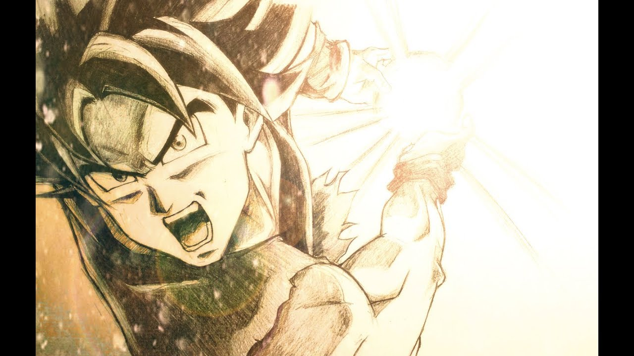 Ultra instinct goku kamehameha speed drawing feat zen approach youtube - Goku ultra instinct sketch ...