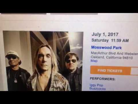 SF Bay Area Events - Iggy Pop In Oakland Mosswood Park July 1-2