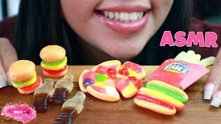 ASMR Gummy Candy Food {Gummy Pizza, Gummy Burger, Gummy Hotdog, Gummy Fries, Gummy Cola} MUKBANG