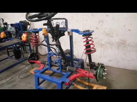 Simulasi Rangkaian kemudi power steering mobil