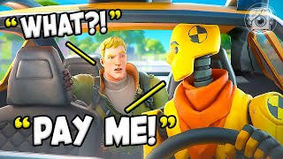 BECOMING a TAXI DRIVER in FORTNITE?! (Fortnite Challenge)