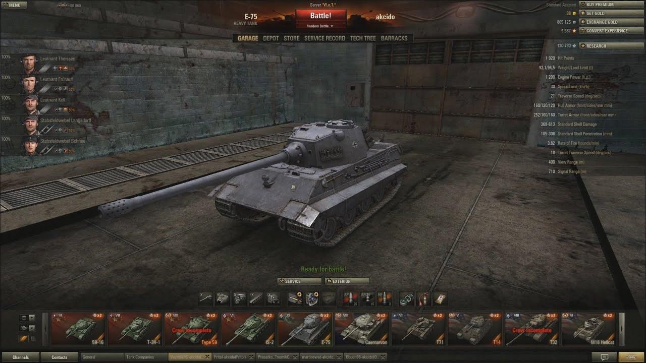 world of tanks cz (58.díl) - e-75 - youtube