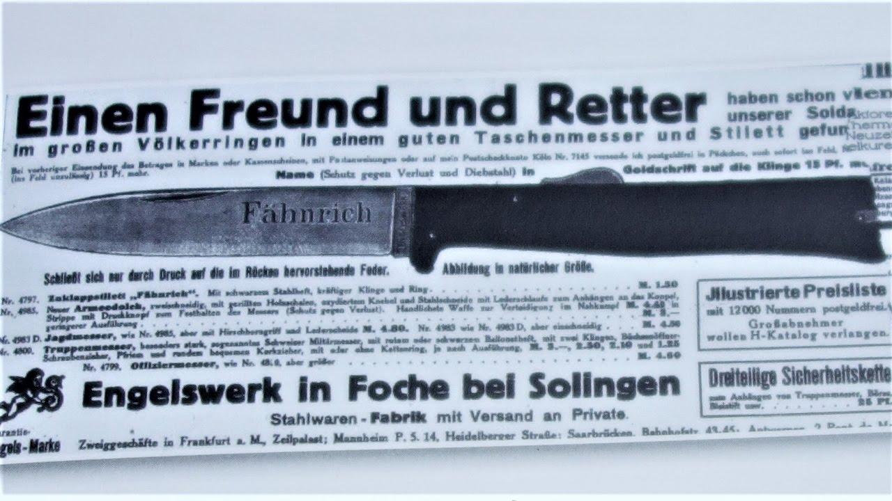 Mercator Knife K55k Knife Black Cat Knife Kaiser Wilhelm Messer