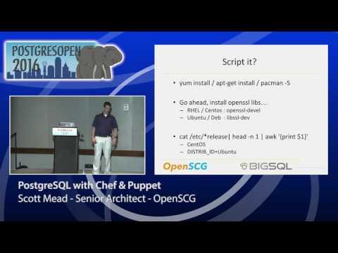 PostgreSQL with Chef & Puppet