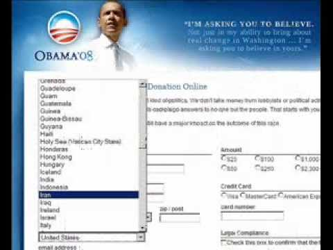 The Obama ['08] campaign website and foreign contributions