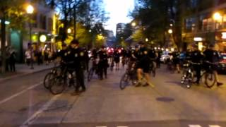 Seattle Police Bicycle Tactics during May Day 2013 Anti-Capitalism/Anti-State March