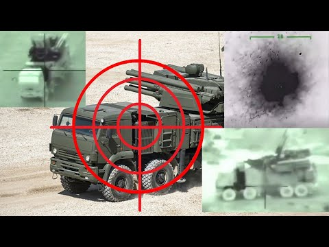 Russian-made Pantsir-S1 air defense systems destroyed by Turkey and Israel airstrikes.