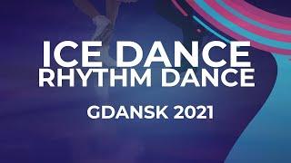 Irina KHAVRONINA Dario CIRISANO RUS ICE DANCE RHYTHM DANCE Gdansk 2021 JGPFigure