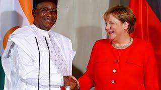Nigers Präsident bei Merkel: Gemeinsam gegen illegale Migration