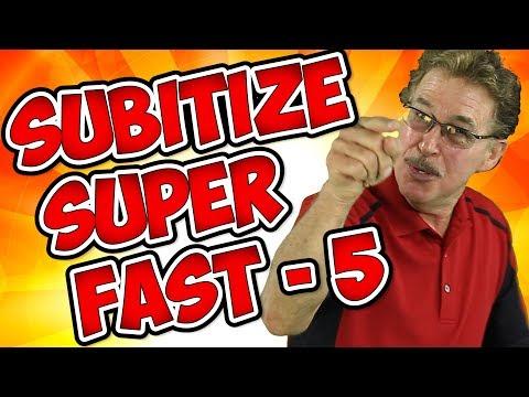 Subitize Super Fast | Subitize to 5 | Jack Hartmann