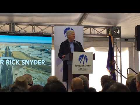 Gov. Snyder speaks at The American Center for Mobility grand opening