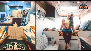 Her DIY Sprinter Van Tour - Insights Into Full Time Solo Female Vanlife