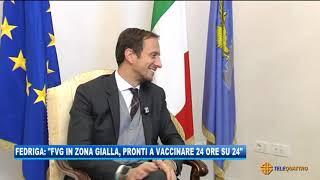 Fedriga: 'fvg zona gialla, pronti a vaccinare 24 ore su 24' | 07/01/2021