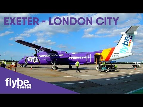 TRIP REPORT | Flybe Bombardier Q400 | Exeter - London City | BE1305 G-PRPO