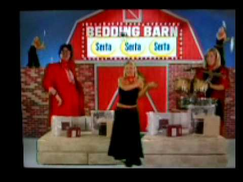 bedding barn.... the WORST .. but funny as hell .. commercial EVER!! XD