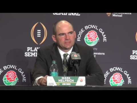 Oregon Head Coach Mark Helfrich Final Pre Rose Bowl Game Presser December 31, 2014