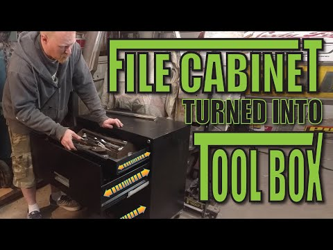 Filing Cabinet Converted To Tool Box Rolling Chest