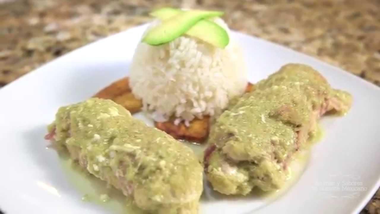 Assm pechugas de pollo relleanas de queso en salsa verde - Pechuga d pollo en salsa ...