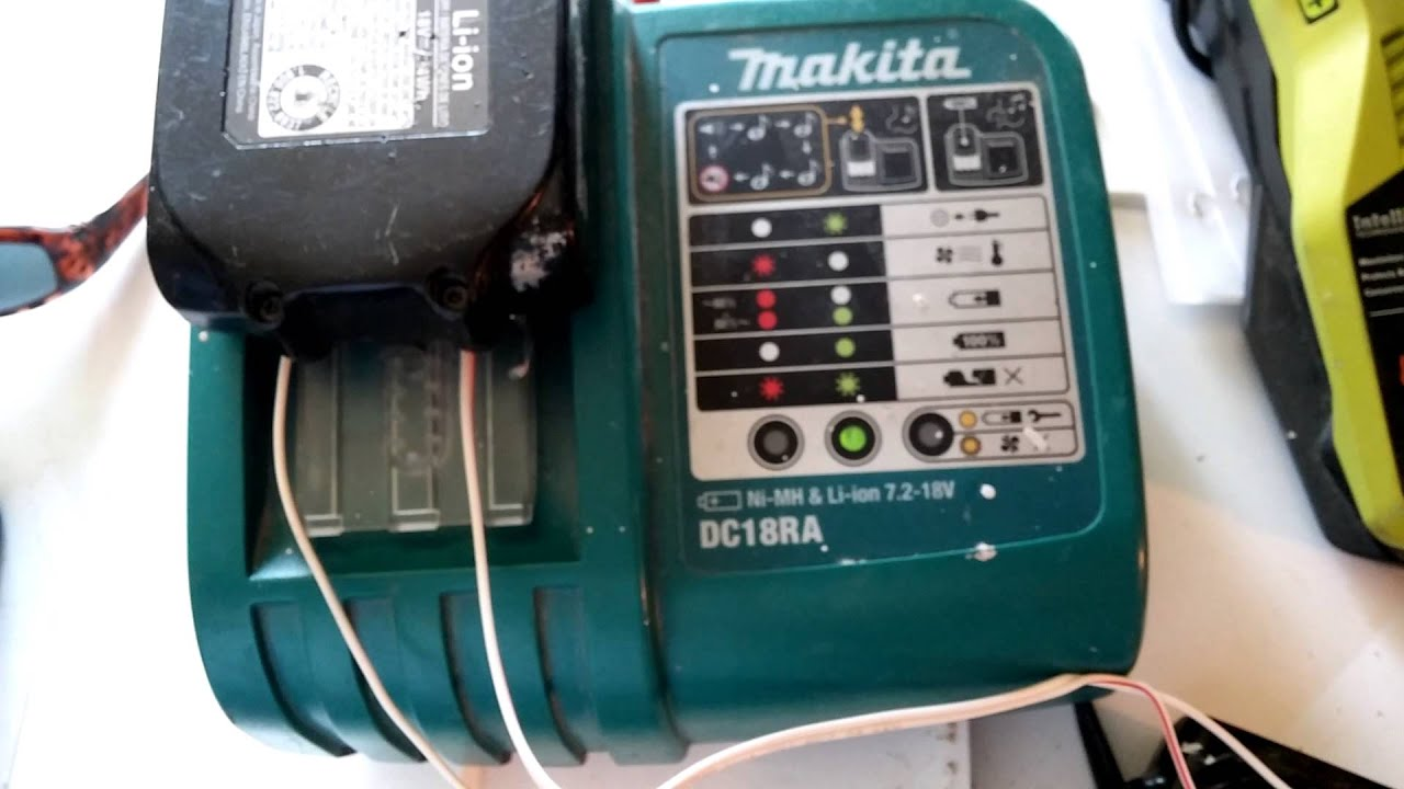How To Impose Your Will On A Makita Li Ion Battery Youtube Charger Wiring Diagram