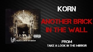 Korn Another Brick In The Wall Lyrics Video