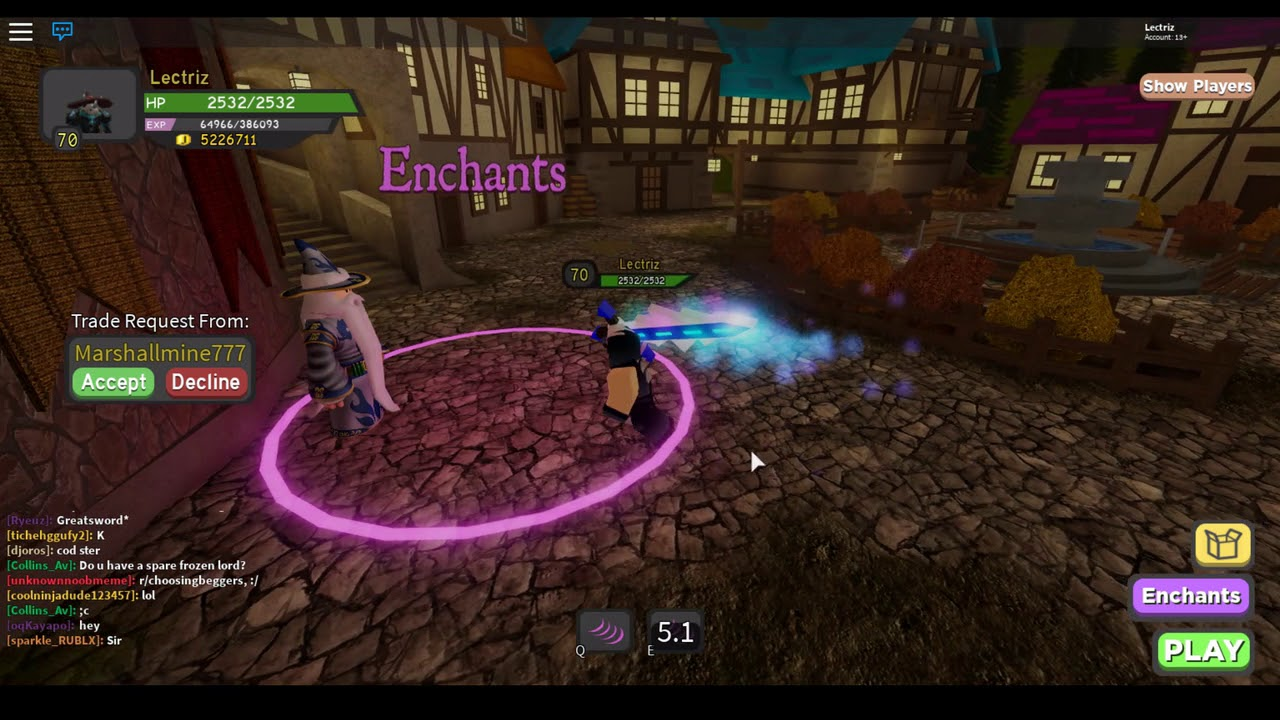 Roblox Dungeon Quest Enchantments Youtube