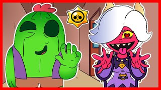 ⭐️ COLETTE & SPIKE AT BRAWL SCHOOL - BRAWL STARS ANIMATION