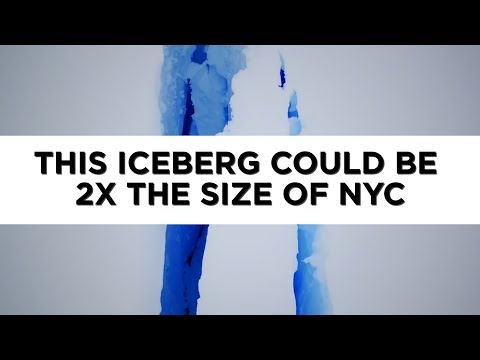 Giant iceberg 2x the size of NYC may break off Antarctica