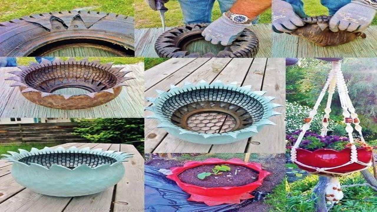 Charming Diy Ideas How To Reuse Old Tires Youtube