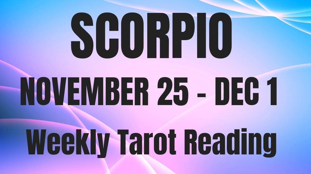 scorpio weekly tarot november 26 2019