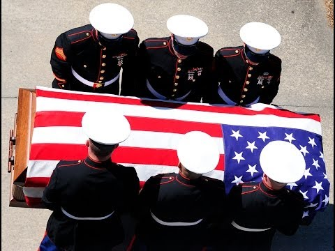 Lance Cpl  Roger Hager's  awake and funeral service