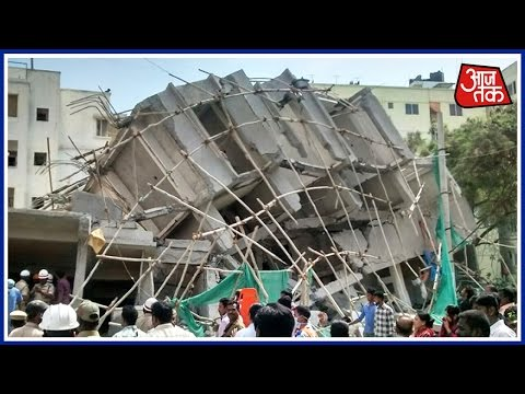 Five Storeyed Building Collapses In Bangalore, One Dead