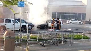 car fire at walmart