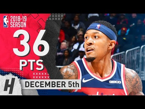 Bradley Beal Full Highlights Wizards vs Hawks 2018.12.05 - 36 Pts, 9 Ast, 6 Rebounds!