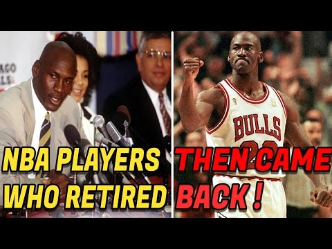 7 NBA Players Other Than Michael Jordan Who Retired From the NBA Then Came Back!